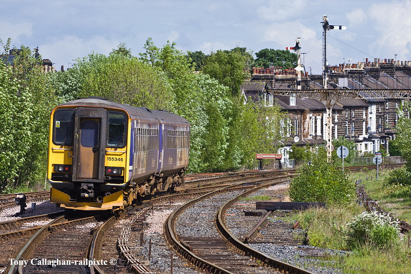 8th May 11:  Leaving Harrogate for York is Northern Rail's 155346