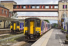 8th May 11:  Northern Rail 158268 waits at Harrogate prior to working the  10.48 to Leeds