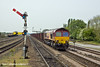 5th May 11:  66133 on the point of 6K23 Iron Ore tipplers from Stanton to Immingham reaches Barnetby