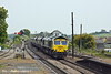 5th May 11:  66953 heads the late running 6Y13 from Immingham to Ferrybridge power station through Barnetby