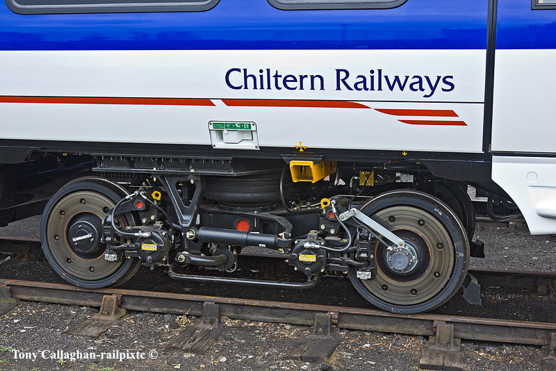 28th May 11:  Chilters Railways brand new 172104 bogie on display at Didcot