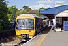 9th May 11:  165123 forming the 17.31 to Henley (2H46) waits in the Bay, platform 5, at Twyford