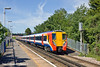 25th May 11:  Getting underway from Egham with 458016 in the lead is the 09.56 from Reading to Waterloo