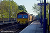 5th May 11:  66160 runs south through Thurnscoe with empty EWS coal HTAs.  In path of 6M42 Ferrybridge Dowlow