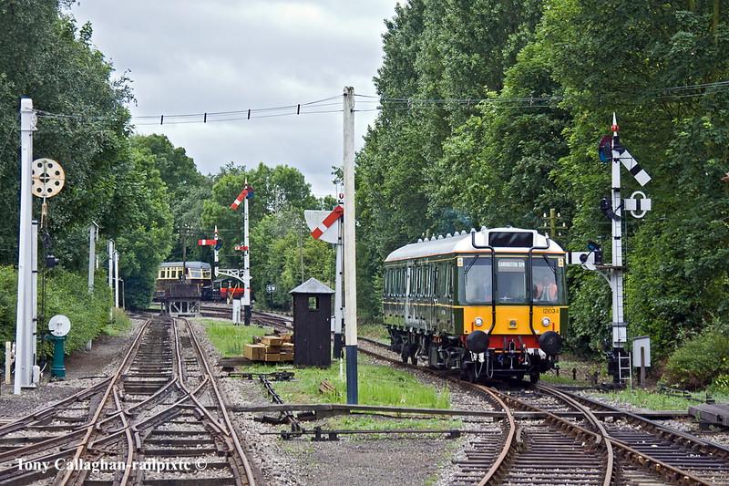 29th May 11:  Chiltern Railways restored Bubble Car 121034 works the Brancj Line shuttle service