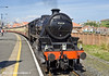"4th May 11:  LMS Black 5 45428 ""Eric Treacy"" stands at Whitby waiting to depart"