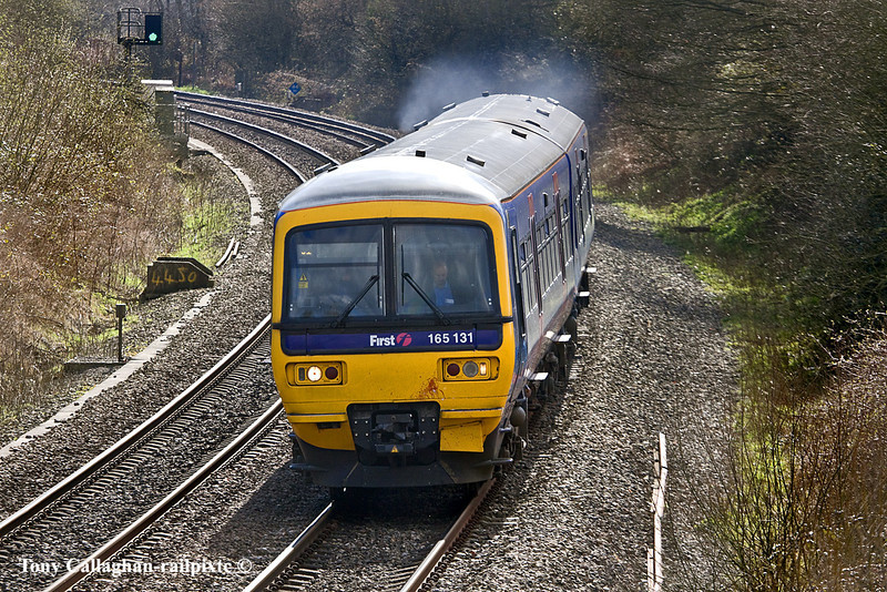 21st Mar 11:  the 14.07 from Basingstoke to Reading composed of 165131 at Silchester