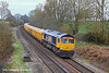 21st Mar 11:   Starting from Mountsorrel 66712 is working 6O96 to Eastleigh.  Captured here at Silchester