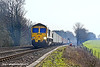 8th Mar 11:  66125 is at the helm of 4O21 Intermodal from Hams Hall to Southampton. Captured at Danes Crossing