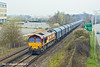 26th Mar 11:  66020 working 6Z12 steel carriers from Dollands Moor to Trostre is running through Bracknell