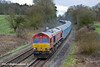 21st Mar 11:   66152 runs through Silchester with 6M52 from Southampton Eastern Docks to Warrington