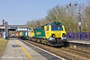 25th Mar 11:  Working 4O51 from  Wentoog to Southampton for the first time on a Friday is 70003.  Captured here passing through Tilehurst