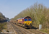 25th Mar 11:  66230 with 6Z52 the Appleford to Bow returning mud empties at Tilehurst