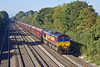 29th Sep 11:  66126 is again at the head of 4L36 coal empties from Didcot to Ripple Lane