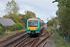26th Sep 11:  Leaving Ashford at 13.31 with 1G34 171728 is now 7 minutes late as it passes through Pevensey & Westham on the journey to Brighton
