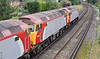 9th Sep 11:  57306+57312 leading 57310 on 0Z57 going to Eastleigh where the locos are to be repainted int NetworkRail yellow