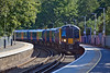 28th Sep 11:  450557 squeels into Virginia Water where it will wait for 9 minutes before continiuing to Waterloo.  2S42 left Weybridge at 14.03