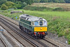 20th Sep 11:  Captured from the Totters Lane bridge is Class 33 #D6515 (33012) retuning to Swanage after spending the weekend at the Barrow Hill show