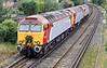 9th Sep 11:  57310+306+312 going to Eastleigh to be repainted into NetworkRail yellow.  Seen at Egham
