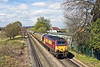 6th Apr 12:  Trundling across Addlestone Moor is 67011 taking 350120 from Northampton to Northam Depot for a spot of maintenance.