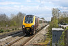 15th Apr 12:  220015 gets a screen wash as it passes through Tilehurst.  1M50 is the 12.40 from Bournemouth to Manchester Piccadilly