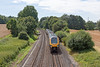 17th Aug 12:  Running 6 minutes late the 12.45 from Bournemouth to Manchester Piccadilly (1M50) is seen at Silchester