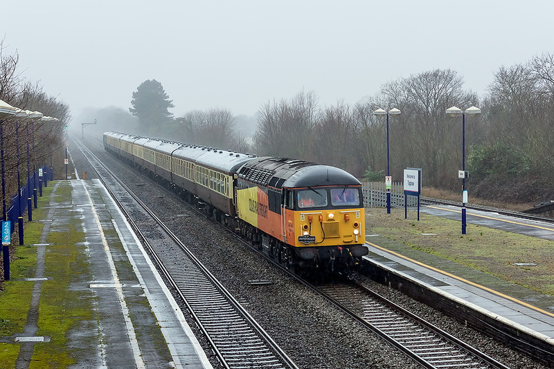 22nd Dec 12:  Pathfinder Tours 'The Thames Angerman' is powered from Crewe to Euston by Colas Class 56 # 56094,  Captured in steady rain as it races up the 'Main' through Taplow