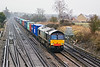 22nd Feb 12:  66416 on the fast as it approaches Worting Junction while working 4O27 from Garston to Southampton