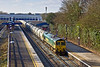 3rd Feb 12: Returning cement empties is 66605 on 6M91 from Theale to the Lafarge cement works in the Hope Valley.