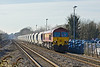 3rd Feb 12:  With a rake of NACCO  11A hoppers in tow 59203 works 6M20 from Whatley to St Pancras through Twyford