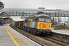 27th Feb 12:  Following closely behind a Reading Turbo through Taplow  was 56302 working 18 JRA boxes from Wembley to Cardiff.