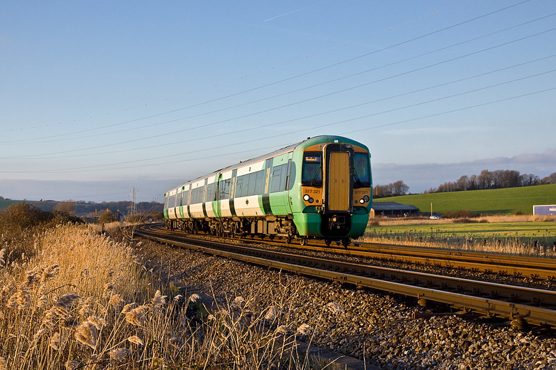 11th Jan 12:  377321 nears Tarring Neville on the 15.10 from Brighton to Seaford