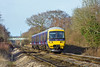 5th Jan 12:  165112 prepares to slow for the Blackwater stop as it works 2O38 the 12.04 Reading to Redhill