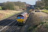 22nd Jan 12:  66086 heading 6N07 from Hampton Court Junction back to Eastleigh nears the bridge at Totters Lane