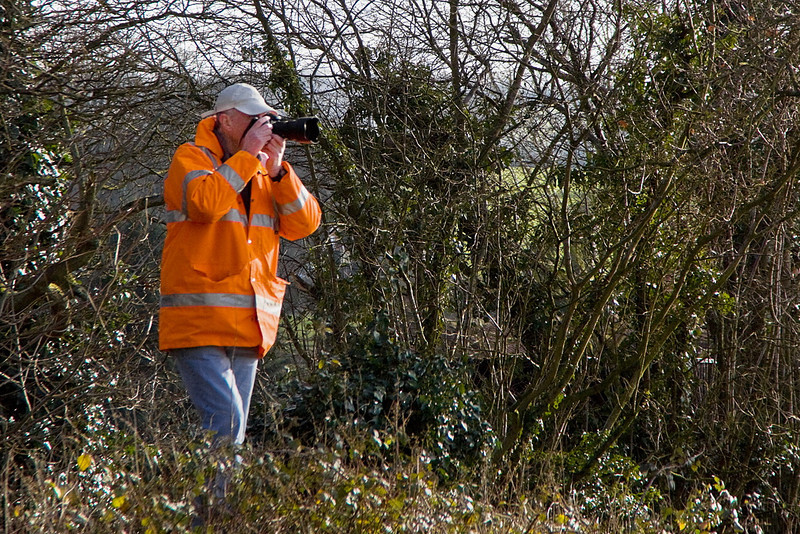 15th Jan 12:  Dave Warwick almost in the hedge at North St while waiting for 31806