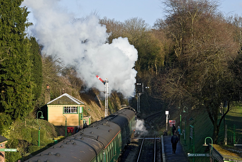 15th Jan 12:   31806 gets away from Medstead & Four Marks