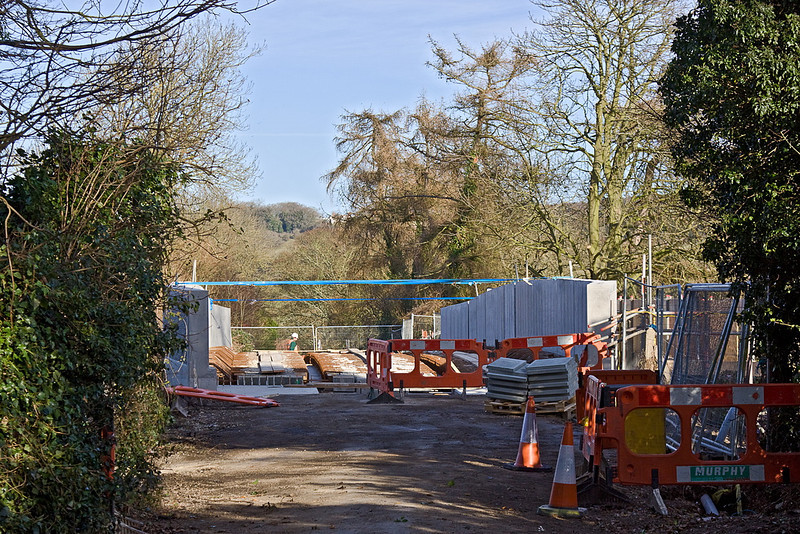 6th Jan 12:  The new bridge at Lower Bsildon under construction