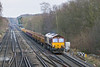 22nd Jan 12:  66003 powers 6N08 down the Slow Line at Farnborough while on it's way to Eastleigh from Balham Junction
