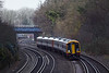 22nd Jan 12:  Racing through Farnborough is 159005 working the 10.56 from Exeter St Davids