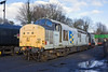 15th Jan 12:  English Electric Class 37 #37905 stands in the yard at Ropley