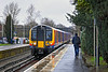24th Jan 12:  On a horrible cold and wet morning 450077 pulls into Bagshot working the 10.23 (2N21) from Ascot to Guildford