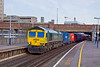 12th Dec 12:  66593 is captured running through Southampton working 4O49 from Crewe Basford Hall