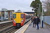 18th Jan 12:  458001 slows for the Egham stop on it's way to Waterloo.  This station is always very crowded with students as the University of London's Royal Holloway College is near bye
