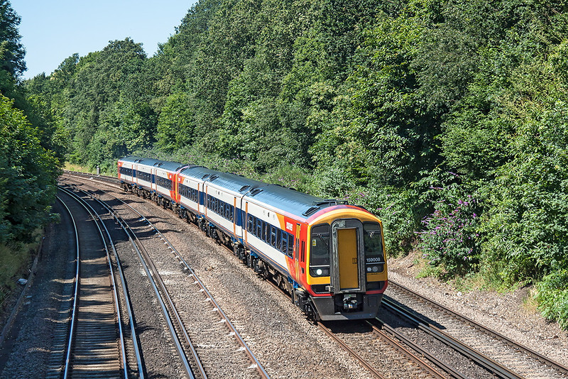 23rd Jul 12:  159008 & 159007 make up 1L36 the 09.26 from Exeter to Waterloo.  Pictured at Farnborough