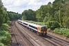 28th Jul 12:  Rushing  towards Curzon Bridge is 444013 working as 2B48 the 12.50 from Poole to Waterloo