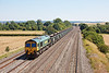 24th Jul 12:  66510 works 6V87 from Crawley to Bristol Barrow Road past the bridge at Manor Farm in Cholsey