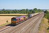 24th Jul 12:  66186 brings 6V38 the MoD service from Marchwood to Didcot away from Cholsey