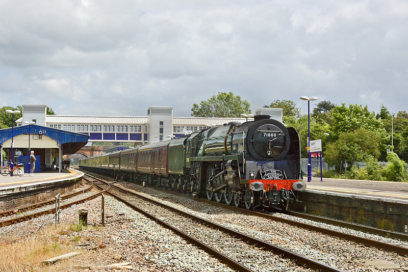 """16th Jun 12: The cropped version of 71000 'Duke of Gloucester' working """"The Cathedrals Express"""" from Southend to Gloucester through Twyford.  I am not sure which one I like best ?"""