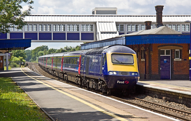 18th Jun 12:  43198 charges through Platform 2 at Twyford.  Running 33 minutes late is the 08.44 from Penzance to Paddington (1A81)