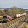 20th Mar 12:  66117 powers 6V38 from Marchwood to Didcot at Manor Farm in Cholsey